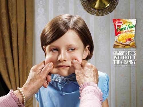Patatas fritas Findus. Las patatas fritas de la abuela sin la abuela.